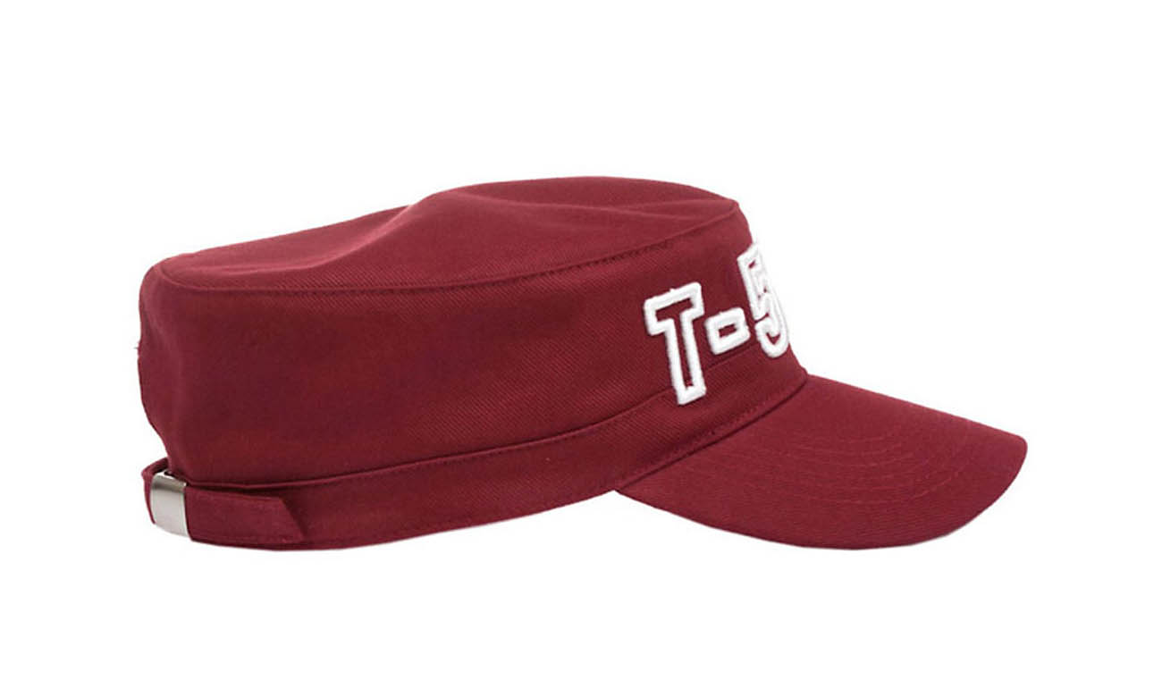 Armycaps T-500 Bordeaux Seitlich Links