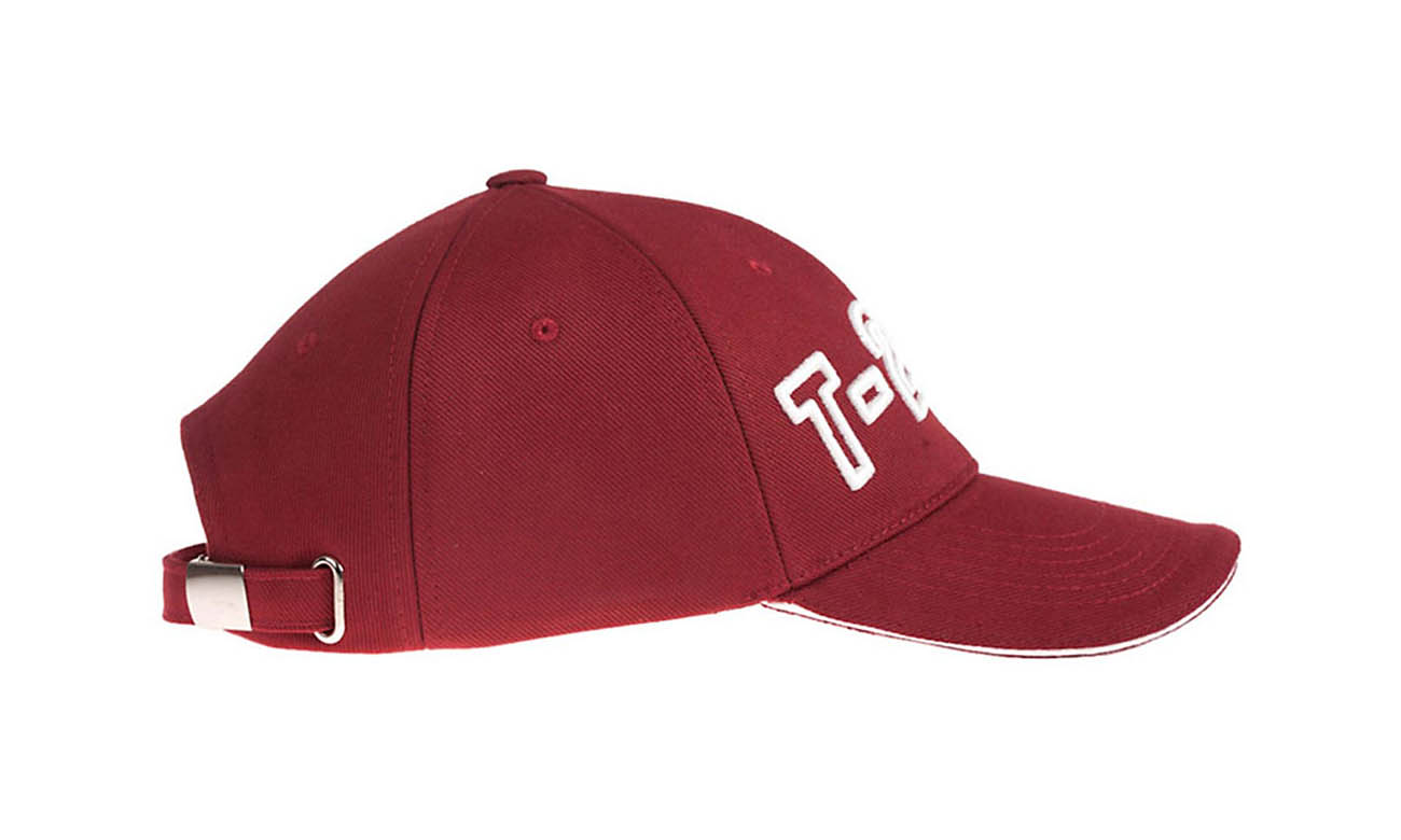 Baseballcaps T-200 Bordeaux Seitlich Links