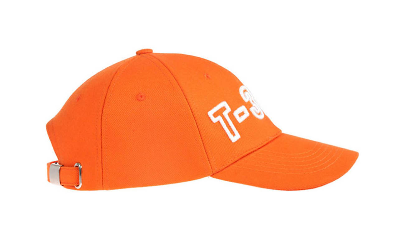 Basecaps T-300 Orange Seitlich Links