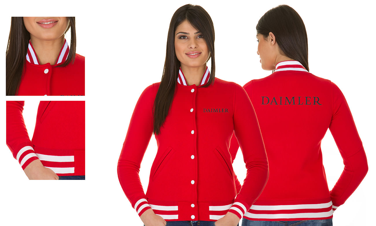 College-Jacken ST-470 Rot Damen