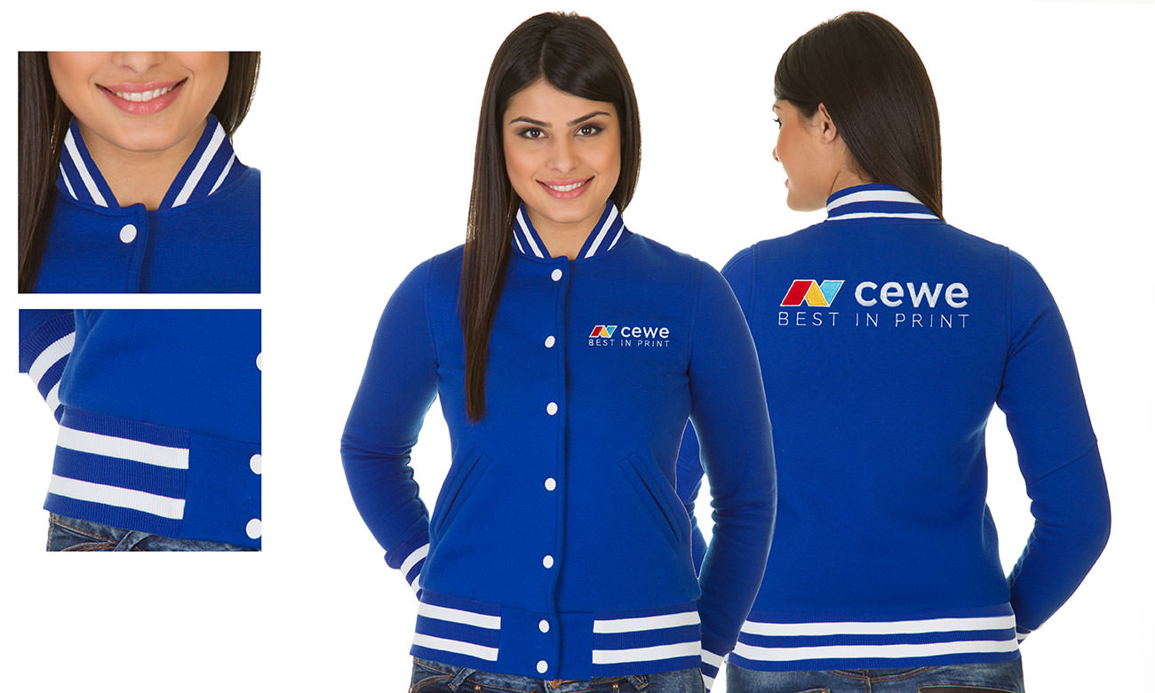 College-Jacken ST-470 Royalblau Damen
