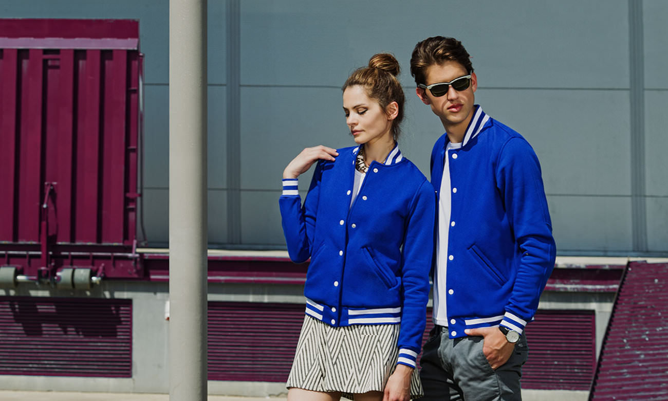 College-Jacken ST-470 Royalblau Fashion