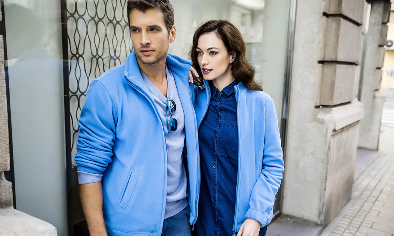 Fleece-Jacken ST-400 Azurblau Fashion