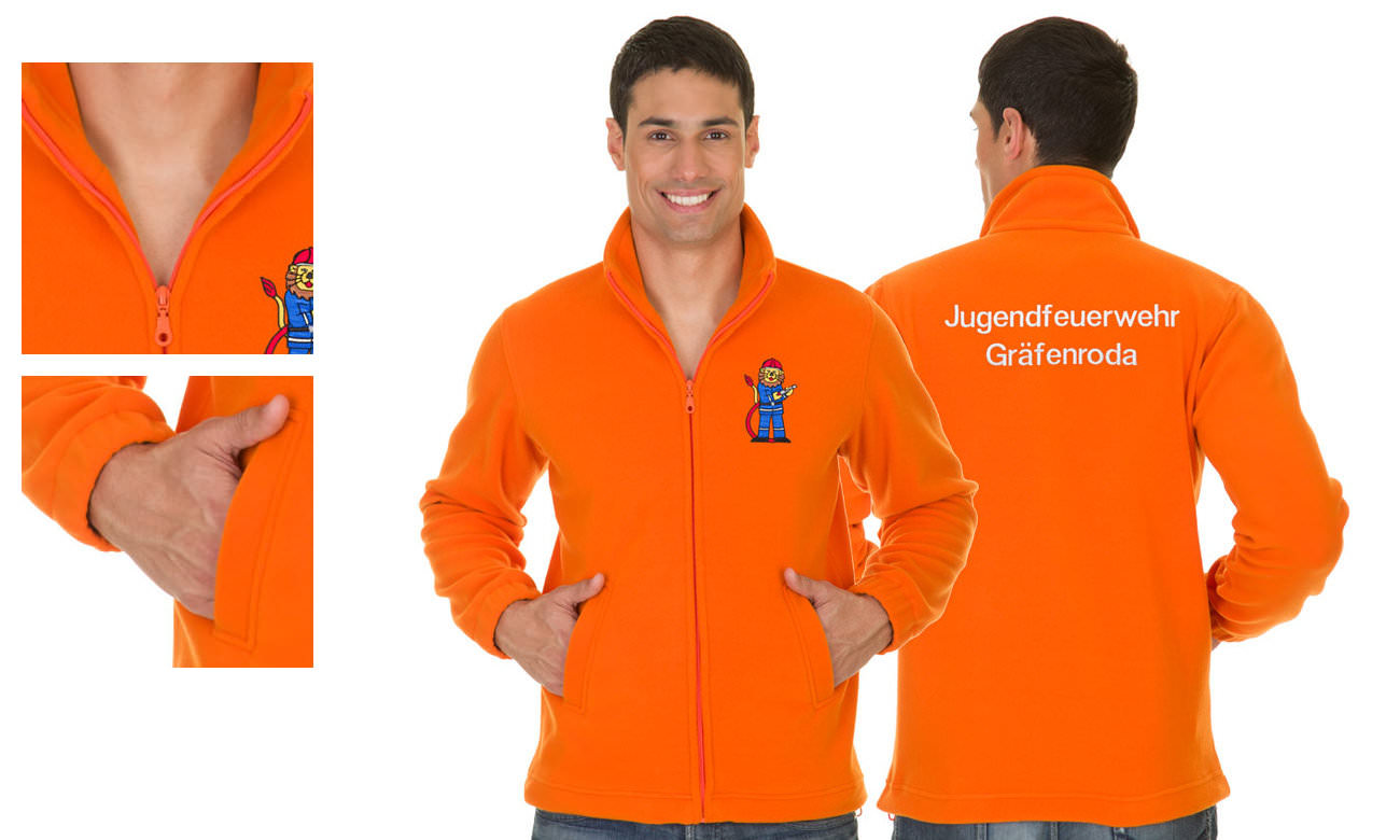 Fleece-Jacken ST-400 Orange Herren