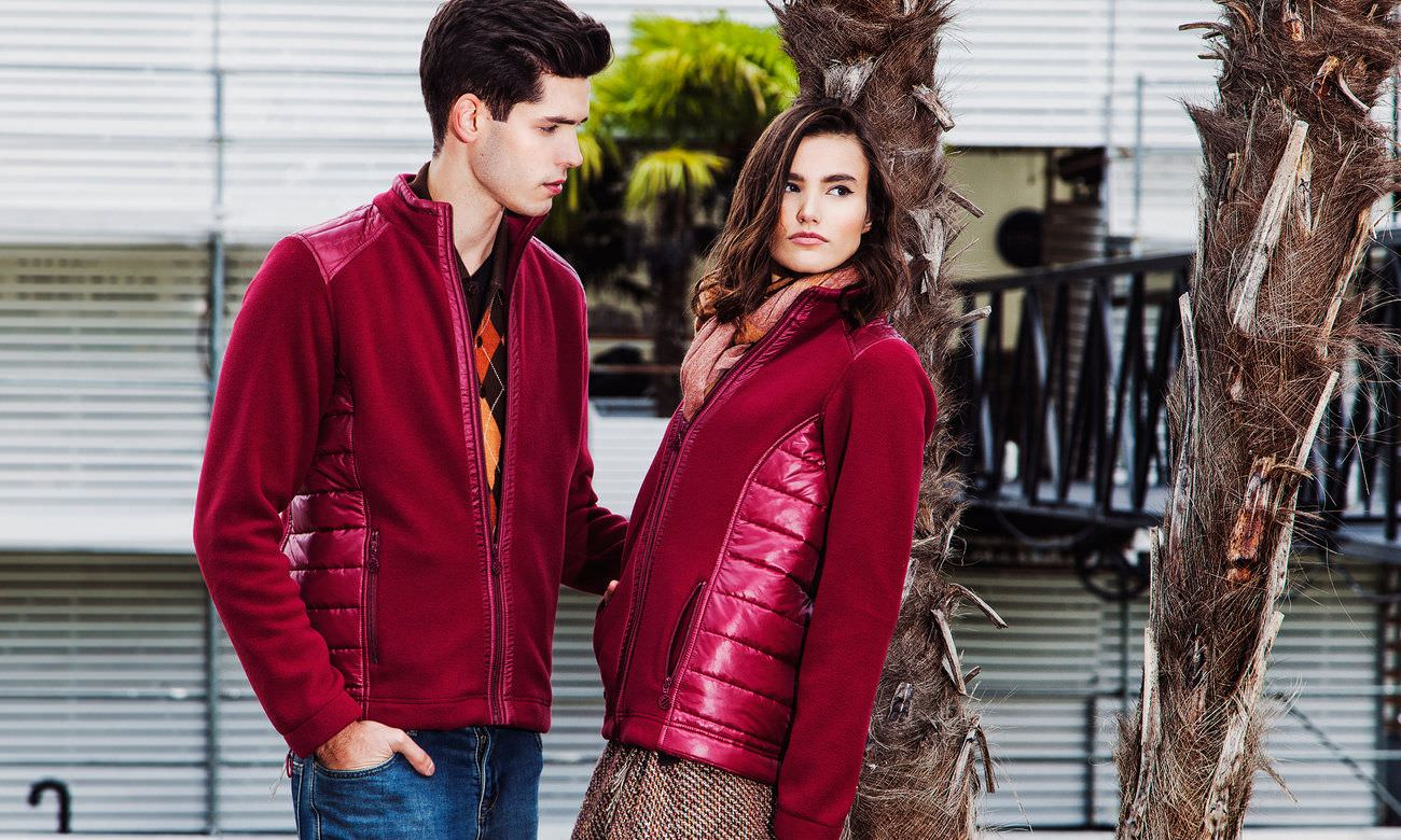 Fleece-Jacken ST-410 Bordeaux Fashion