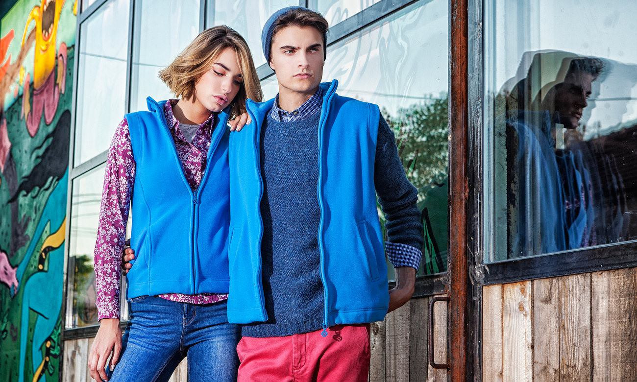 Fleece-Westen ST-405 Azurblau Fashion