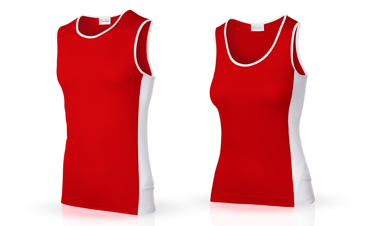 Laufshirts ST-143 Rot-Weiss