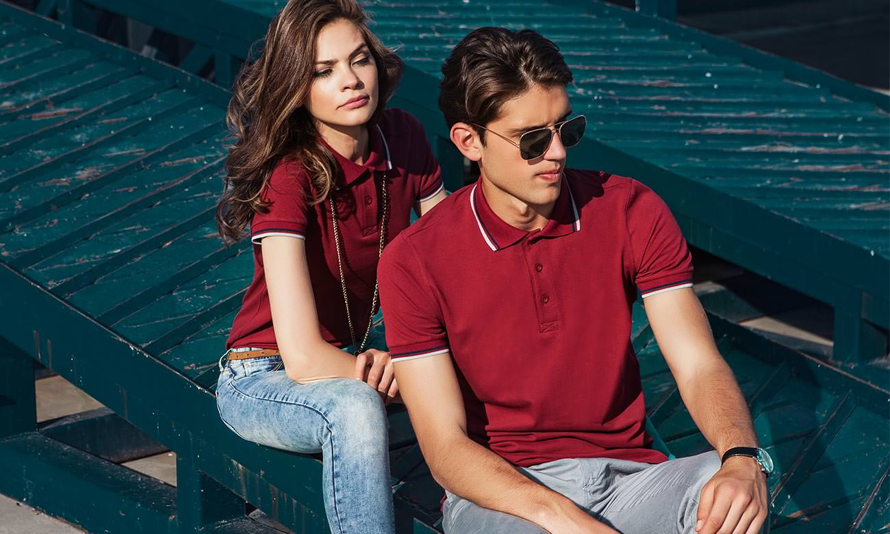Poloshirts ST-207 Bordeaux Fashion