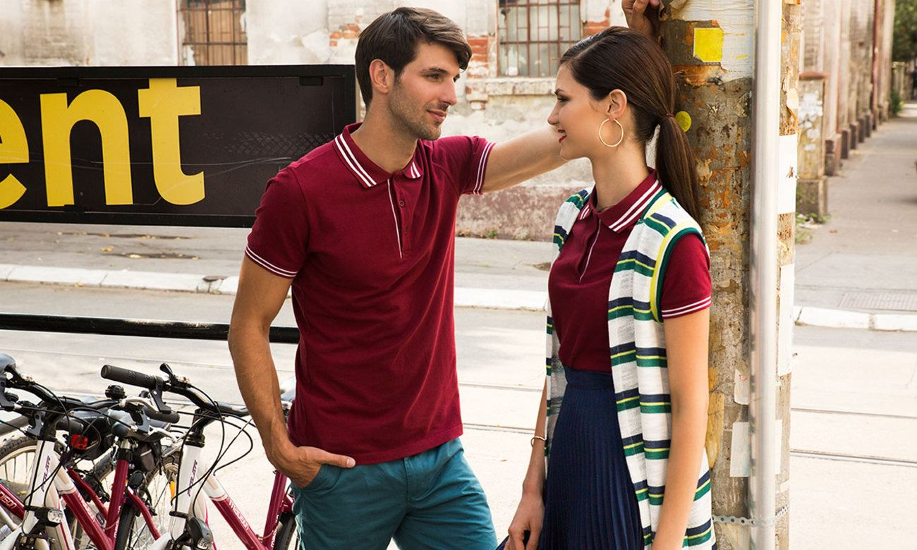 Poloshirts ST-209 Bordeaux Fashion