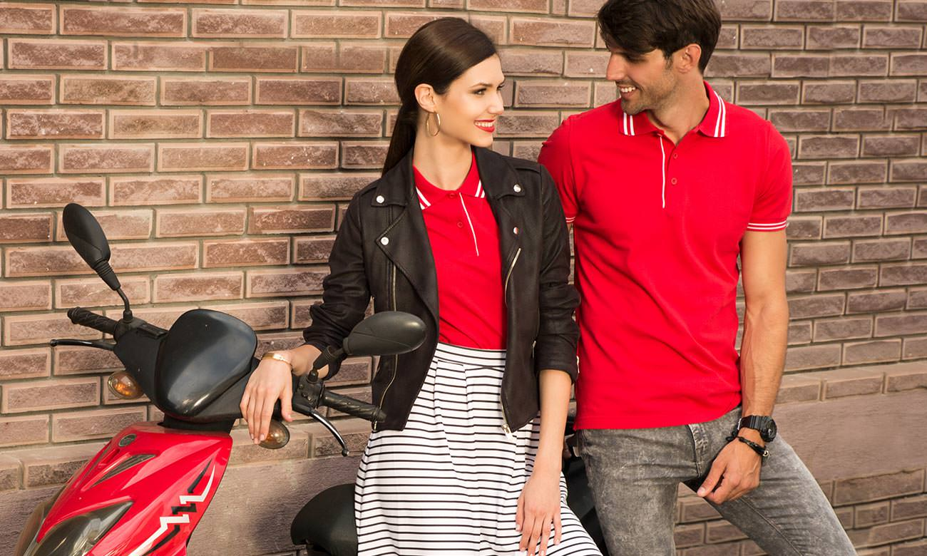 Poloshirts ST-209 Rot Fashion