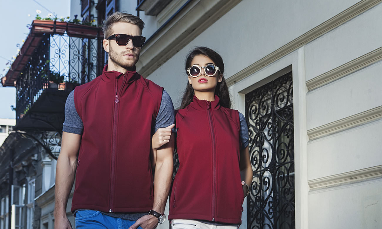 Softshell-Westen ST-465 Bordeaux Fashion