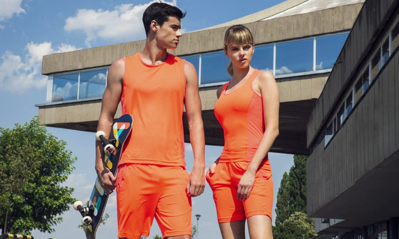 Sporthosen Kurz ST-615 Neon Orange Fashion