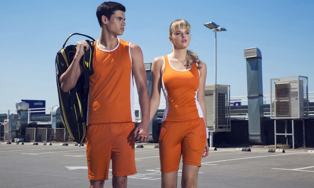 Sporthosen Kurz ST-615 Orange Fashion